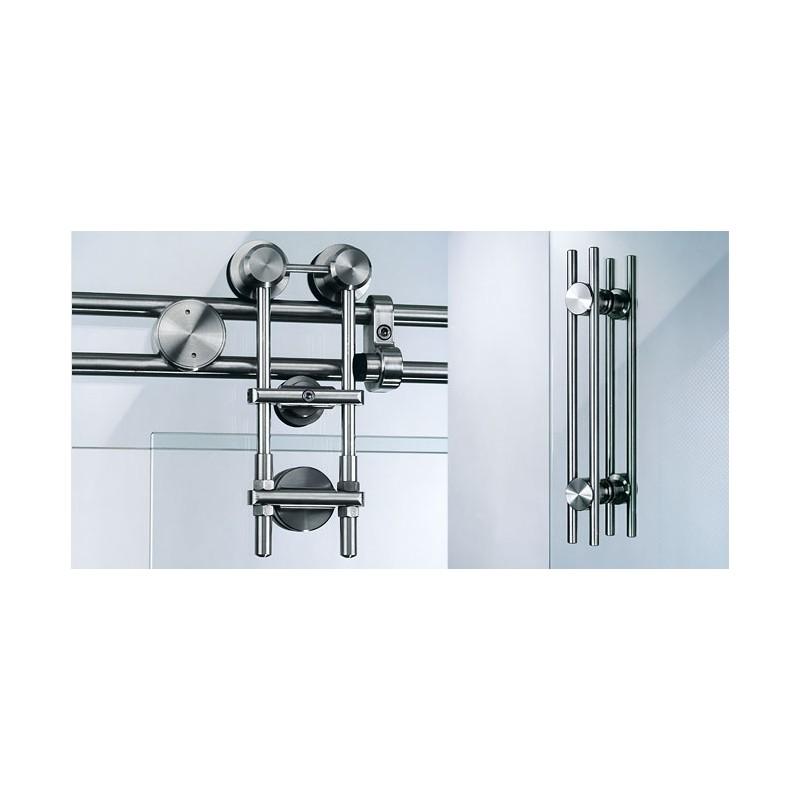 Herrajes y accesorios para puertas de vidrio templado - Herrajes acero inoxidable ...