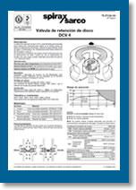 Válvulas de retención de disco DCV4